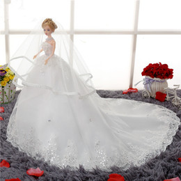 pp housing Australia - Wedding Dress Doll Bobbi Tuba Tailing Princess Children House Toys 48 Centimeter Suit