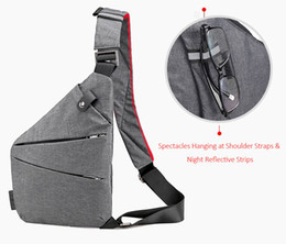 tablet holster china Australia - Man Thin Personal Pocket Bag Holster Tactical Shoulder Sling Vintage Crossbody Bags Outdoor Zipper Anti-theft Chest Bags