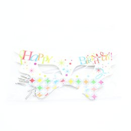 Happy birtHday dress online shopping - Happy birthday theme mask dress up birthday theme party party letters dance