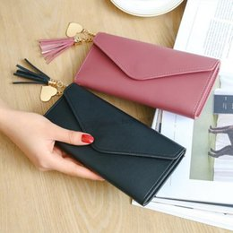 Discount cell phone holder wallet women - Fashion Womens Wallets Wallets Simple Zipper Purses Black White Gray Red Long Section Clutch Wallet Soft PU Leather Mone