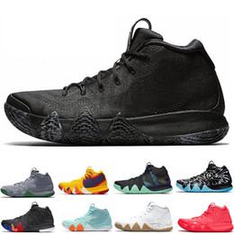 cb887130f649 Designer Kyrie Irving 4s Mens Basketball Shoes Uncle Drew Triple Black Oreo  70s 80s 90s Mamba Mentality Red Carpet 4 Sport Sneaker 40-46