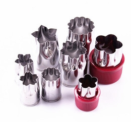 Biscuit mold stainless steel fruit cutter vegetable butterfly mould creative Kitchen tools 8pcs 1 lot optional LQPYW462 on Sale