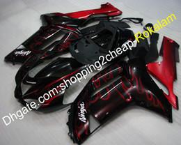 $enCountryForm.capitalKeyWord Australia - ZX 6R ABS Plastic Fairing For Kawasaki 07 08 ZX-6R Ninja 636 ZX636 ZX6R 2007 2008 Race Cowlings kit Red Black (Injection molding)