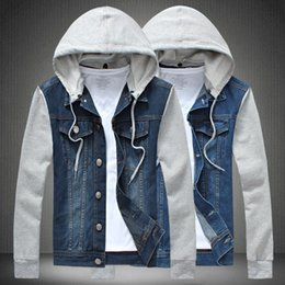 Korean Slim Clothes Male Australia - Pop2019 Foreign Trade Goods Man Korean Clothes Removable Even Hat Tide Male Loose Coat Will Code Cowboy Jacket