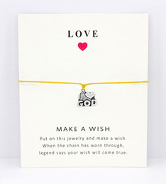 god bracelet wholesale NZ - I Heart God Merry Christmas Cross Snowflake Antique Silver Charm Card Bracelets Yellow Pink Red Wax Cord Women Men Jewelry Gift