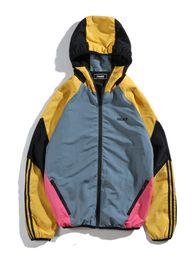Nueva 18FW LuxuryE marca PALACEA Retro de tres barras ropa de tormenta hombres y mujeres abrigo de la capa sudadera con capucha sudadera exterior en venta