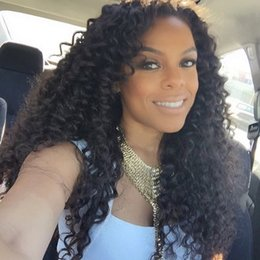 Silk Top Curly Human Hair Wig Australia - Silk top Kinky curly Brazilian Human Hair Full Lace Wig with baby hair for black women Lace Front Wigs natural hairline