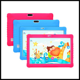 Brand Dual Core Tablet Australia - NEW Kids Brand High quality 10 inch kid MTK6580 IPS capacitive touch screen dual sim 3G kid children tablet phone pc google play android 7.0