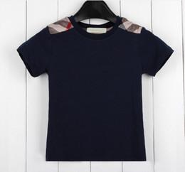 Ingrosso Boy T Shirt manica corta bambini puri del cotone per estate i nuovi ragazzi bambini delle magliette di marca di trasporto libero Tees