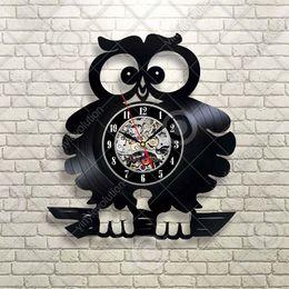 $enCountryForm.capitalKeyWord Australia - Cute Crazy Owl Birds Gift For Child Birthday present Home Decor Handmade Art Personality Gift (Size: 12 inches, Color: Black)