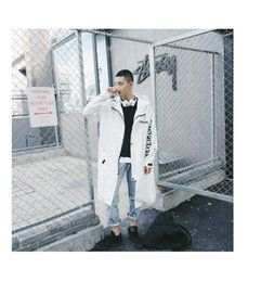 Water Proof Coatings Australia - 2019 Vetements Polizei Man Jackets Hooded Rain Coat Water-proof Sun Protection Trench Casual Hi-Street Fashion Brand Men Clothing Wholesale