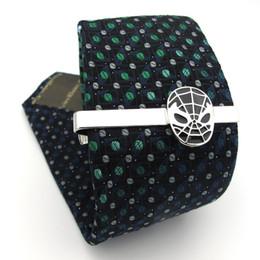 $enCountryForm.capitalKeyWord Australia - iGame Superheroes Tie Clips Quality Brass Material Novel Black Color Tie Bar For Men Free Shipping