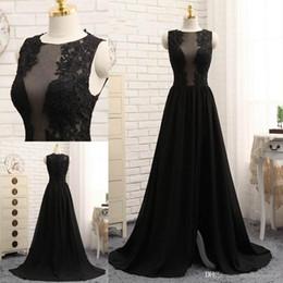 $enCountryForm.capitalKeyWord Australia - Latest Black A-line Evening Dresses Jewel Neck Appliques Formal Evening Gowns Floor-length Zipper Back Prom Dresses