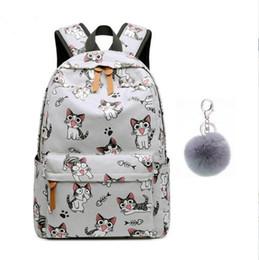 $enCountryForm.capitalKeyWord Australia - school bags for teenage girls schoolbag children backpacks cute animal print canvas school backpack kids cat bag pack