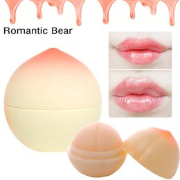 $enCountryForm.capitalKeyWord NZ - Romantic Bear lip Balm New Cute Makeup Peach Shape Moisturizer Nutritious Lip Balm Long Lasting Lips Care Brand Lipstick Balm