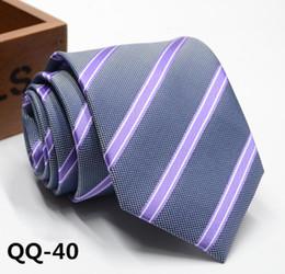 Groomsmen Ties Australia - Men's Business Leisure Tie and Groom's Marriage Groomsman Dress 8CM Stripe Korean Edition
