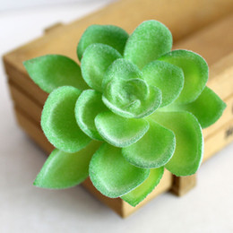 Real Fake Flowers Australia - Green Artificial Plants Fake Mini Plastic Flowers Simulation For Garden Decor Real Touch Faux Succulents Arrangement C19041702