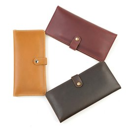 Hands Free Phone Holder Australia - New Arrival Hand Made Women And Men Cowhide Wallet Coin Purse Card Package Fashion Leather Two Folding Purse Free Shipping