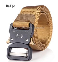 $enCountryForm.capitalKeyWord Australia - 49 In Heavy Duty Khaki Beige Men Belt Mens Designer Belts Ceinture Tactical Quick Release Nylon Buckle Zinc Alloy Outdoor Sports Waist Strap