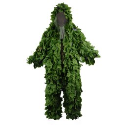 $enCountryForm.capitalKeyWord Australia - Leave Camouflage Ghillie Suits Breathable Mesh+Green Leaves Sniper Clothes for Forest Hunting Sniper Ghillie Suits