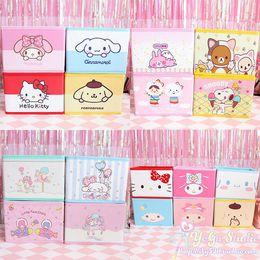 4df1e44d7c Cartoon Hello Kitty My Melody Cinnamoroll Pudding Dog Little Twin Star  Kanahei Cute Cosmetic Bags Toy Folding Storage Box Bag