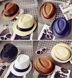Wholesale Men Straw Summer Hats NZ - Cheap Men Women Hat Kids Children  Straw Hats Cap c22e3a8f0982