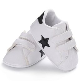 little stars baby wholesale Australia - Baby Shoes Little Star Shoes Toddler Kids Girls Boys Canvas Anti-skid Soft Warm Non-Slip Slippers White