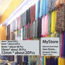 Vente en gros 1 strand / lot 6 8 10 mm Noir Naturel Pierre Perlé Agates Yoga Spacer Perles Rondes Pour La Fabrication de Bijoux DIY Colliers Bracelets