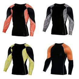 Clothing wear tights online shopping - Cycling Elastic Force Fitness Wear Man Long Sleeves Quick Drying PRO Tights Outdoors Motion Universal Sports Clothes Customized cpH1