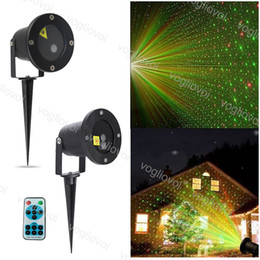 outdoor christmas star light projector NZ - Projectors Lights Outdoor Laser Firefly Stage Lights Landscape Red Green Projector Christmas Garden Sky Star Lawn Lamps Controller DHL