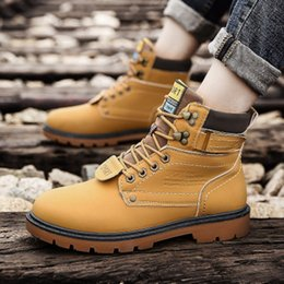 $enCountryForm.capitalKeyWord NZ - Warm Winter Men Boots Men Tooling Retro Martin Boots Fashion Buckle Casual Shoes Breathable Lace-up Flat Soft Rubber with Plush Snow Boots