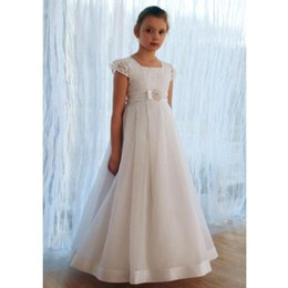image girl flower butterfly NZ - Flower Girls Dresses Butterfly Adorned Kids Pageant Gowns Little Girl Birthday Party Wear Princess