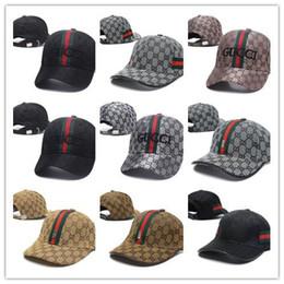 Plaid hats for women online shopping - polos Snapback golf Baseball Caps Leisure Hats Bee Snapbacks Hats outdoor golf sports hat for men women