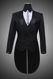 $enCountryForm.capitalKeyWord Australia - Male Black Beige MagicianTuxedo Suits Set Formal Stage Wear Dress Costumes Men's Clothing Set Costume Performance Show Clothing