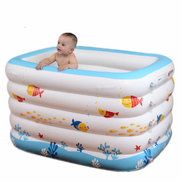 Wholesale Baby Inflatable Bathtub Portable Infant Toddler Non Slip Bathing Tub Travel Bathtub Mini Air Swimming Pool Kids Thick Foldable Shower Basin