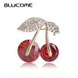$enCountryForm.capitalKeyWord UK - lips software Blucome Hot Sale Jewelry Red Cherry Brooch Crystals Big Rhinestones Fruits Brooches Shining Corsage Women Dress Pins Scarf ...