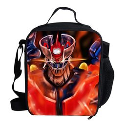 Z Packs Australia - Thermo Large Meal Package Cartoon Mazinger Z Lunch Bag Crossbody Child Cold Storage Take-away Shoulder Bags Ice Pack Cooler Bag