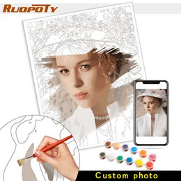 $enCountryForm.capitalKeyWord Australia - Personality Photo Customized Your Own Diy Oil Painting By Numbers Picture Drawing Canvas Portrait Wedding Family Children Photos Q190426