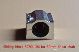 Block Bearings NZ - SCV50UU SCS50UU SC50UUAJ bearing 50mm linear slide block with LM50UU for rod round shaft 1pcs