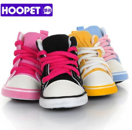 Spring Fall Canvas Shoes Australia - HOOPET NEW Dog Canvas Shoes Leisure Warm Anti-slip Sporty Sneakers Booties Breathable Booties For Small Cats Dogs Puppy Pet Supplies Product