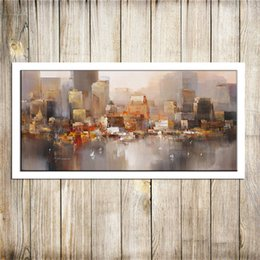 painting seascape boat Australia - City Building Rain Boat Poster Scenery , Canvas Pieces Home Decor HD Printed Modern Art Painting on Canvas (Unframed Framed)