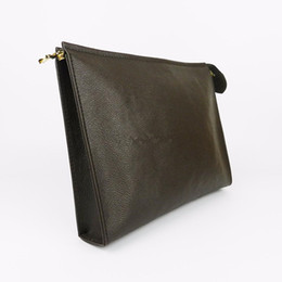 26 Genuine Leather Australia - Designer- Toiletry Pouch 26 cm Protection Makeup Zopper Bags Clutch Women Genuine Leather Waterproof 19 cm Cosmetic Bags For Women 47542