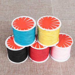 Silk Nylon Satin NZ - 1Roll 0.8mm 45M Braided Cords Chinese Knot Bracelet String Rattail Necklace Thread Satin Silk Cord Wire Nylon Rope Hand Crafts