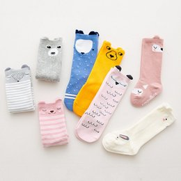 cute baby clothes ears UK - Cute Cotton Baby with Ears AntiSlip FoxBearOwlBunny Infant Knee High Socks Newborn Accessories 4 Colors Socks Baby & Kids Clothing 1 Pair
