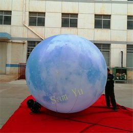 $enCountryForm.capitalKeyWord Australia - 3m High Inflatable Moon Balloon For Christmas LED Stage Event Decor Inflatables Supplier 2018 Nightclub Parade Clearance