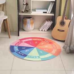 $enCountryForm.capitalKeyWord Australia - Alphabet digital INS Round Colorful Home Mat Room Area Rug Floor Carpet For Living Room Bedroom Carpets Kitchen Mat MT93