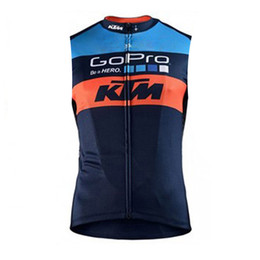 Discount tour france team bike jerseys - Tour De France PRO Team KTM Cycling Jersey Mtb bike Clothing Bicycle Clothes Sleeveless shirt Maillot Roupa Ciclismo spo