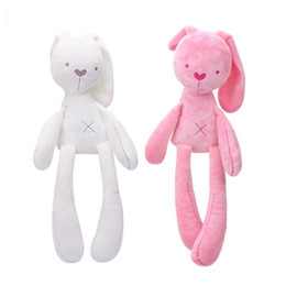 Bunny Baby Bedding Australia - Bunny Plush Toys Easter Rabbit Dolls Cute Rabbit Stuffed Toy Long Ears Bunny Toys Bed Pillow Toy Kids Baby Birthday Gift YFA799