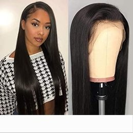 virgin wigs for sale Australia - Natural color Malaysian Lace Front Wigs Natural Hairline For Black Women charming queen Silk Straight Human Hair Full lace Wigs cheaper sale