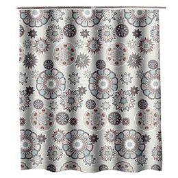 72 shower curtain UK - Jarl home Flower Pattern Shower Curtains for Bathroom 72*72 Inch Fabric Shower Curtain with Grommets Elegant Waterproof Shower Curtains